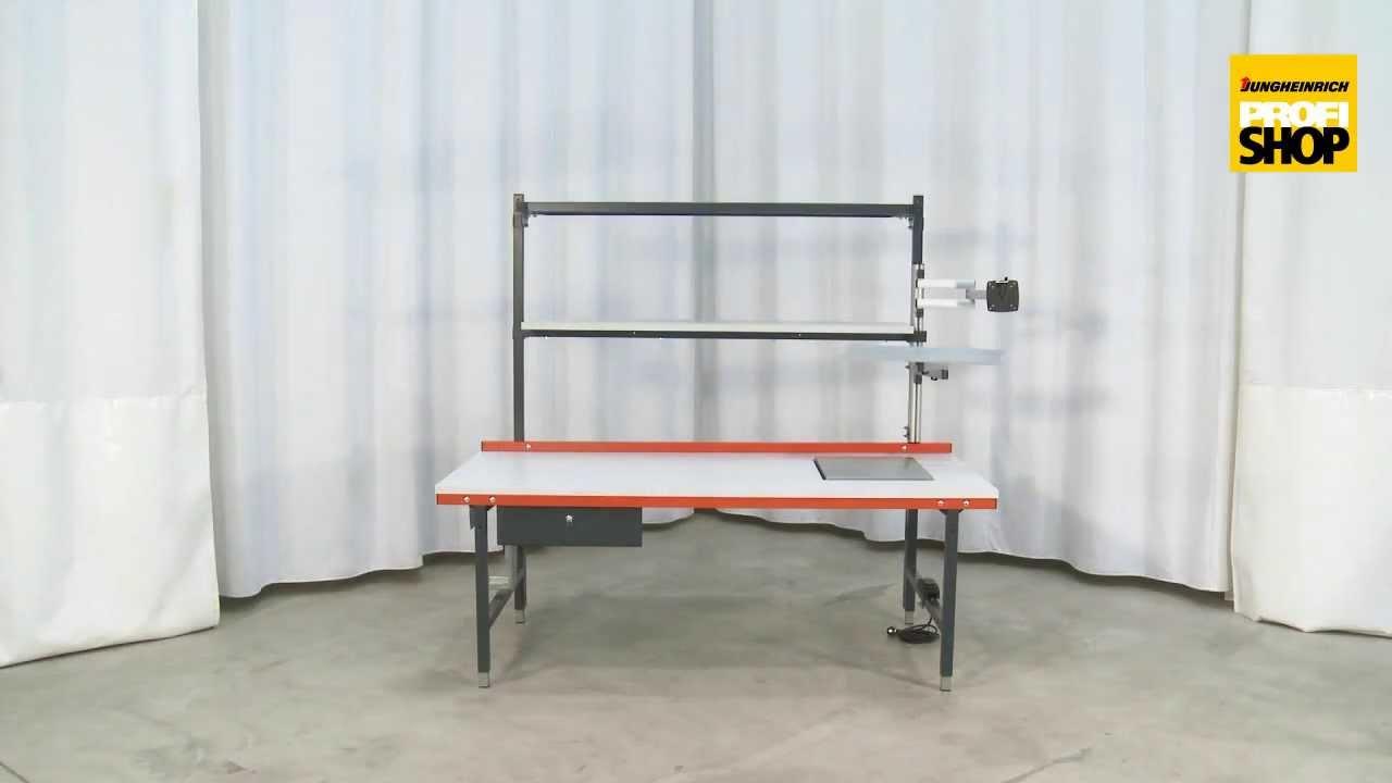 packtisch und arbeitstisch mit oder ohne waage erweiterungen youtube. Black Bedroom Furniture Sets. Home Design Ideas