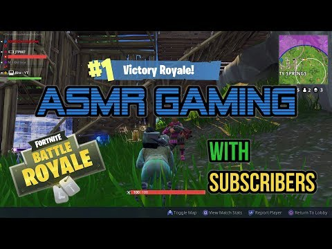 ASMR Gaming   Fortnite Battle Royale 45th Win With Subscribers! ★Controller Sounds + Whispering☆
