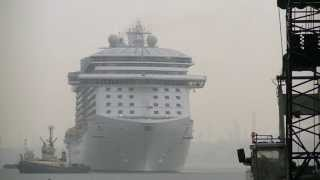 "Princess Cruises newest ship ""Royal Princess"" arrives in Southampton today 07/06/13."
