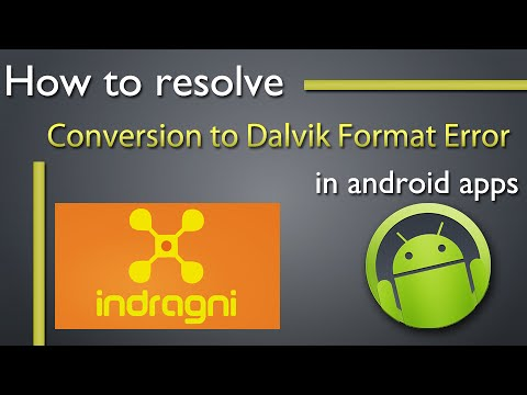 Resolve Conversion To Dalvik Format Failed With Error