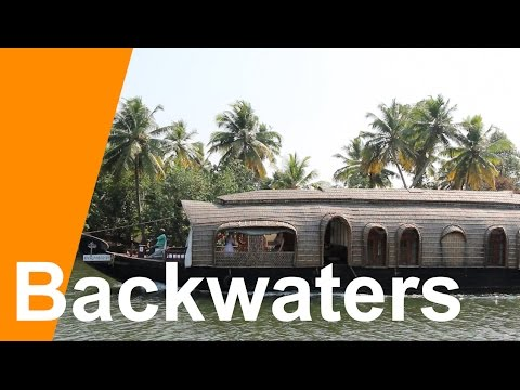 Houseboat in Kerala India Backwaters