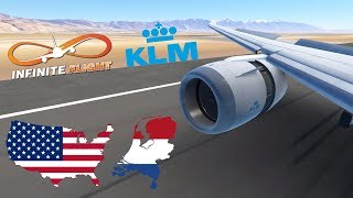 Infinite Flight GLOBAL: Amsterdam (AMS) To Salt Lake City (SLC) | TIMELAPSE | KLM | Boeing 787