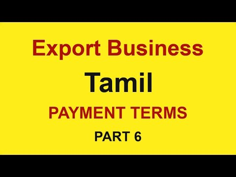 How to Start Export Import Business in India, Tamil (Part 6 ) | Payment Terms