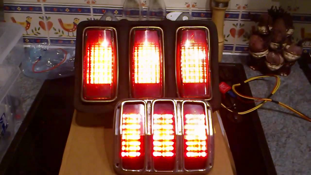 Custom 64 65 66 69 Mustang LED Tail Lights with amber turn ...
