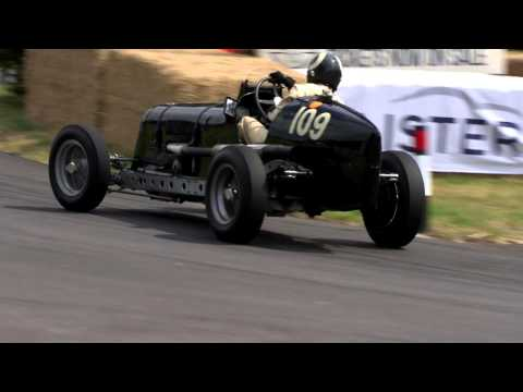 James Baxter in ERA D-Type R4D at the 2015 Chateau Impney Hill Climb