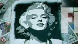 multi layer stencil art tutorial marilyn monroe
