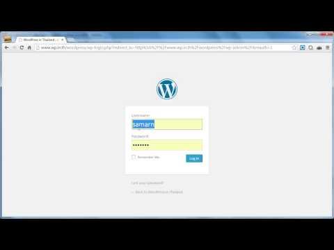 WordPress การเข้า-ออกระบบ