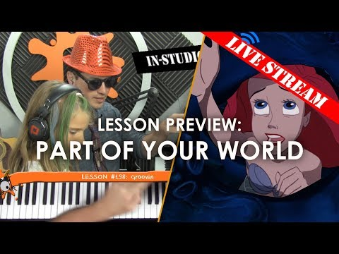 Part Of Your World - Kid's Piano Tutorial