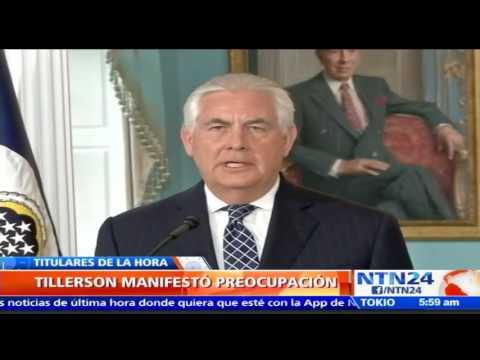 """""""Maduro está violando su propia Constitución"""": Rex Tillerson, secretario de Estado de EE. UU."""