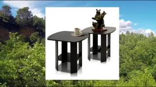 Furinno 2-11180ex Simple Design End Table Set Of Two Epsresso