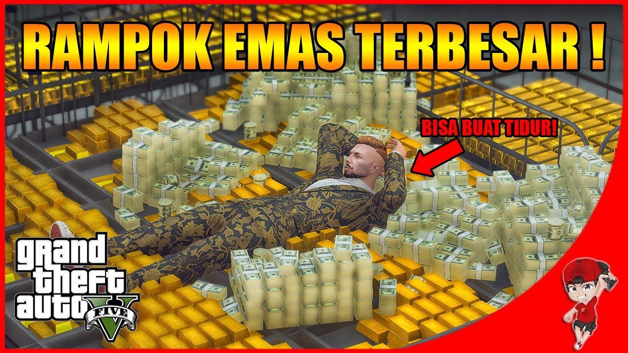 GTA V MOD MAFIA (3) - INI EMAS BISA BUAT TIDUR ! RAMPOK BRANKAS EMAS TERBESAR !