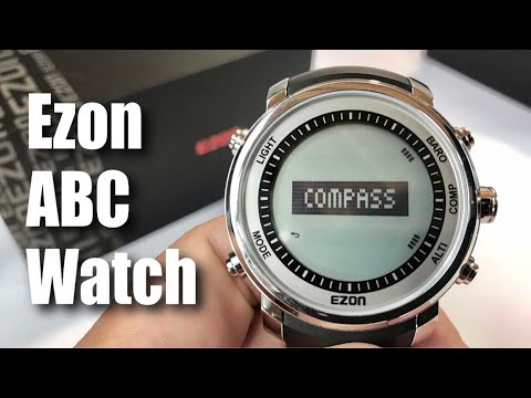 EZON Compass Barometer Altimeter Thermometer Climbing Hiking Outdoor Sports Watch H506 review