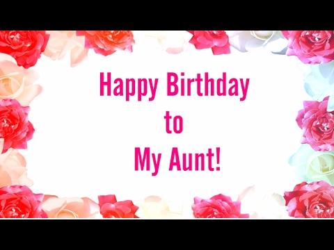 To My Aunt Happy Birthday Youtube