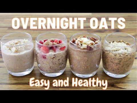 Overnight Oats 4 Easy Healthy Recipes Vegan