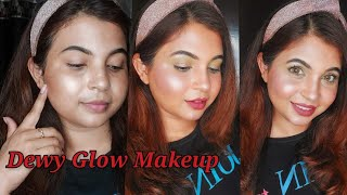 Makeup with Illuminator| Dewy Glossy Makeup| Full Chit Chat video| @LoveYourself Nilufar