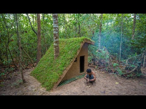 How to Build the Most Beautiful Grass Roof Luxury Villa by Ancient Skill