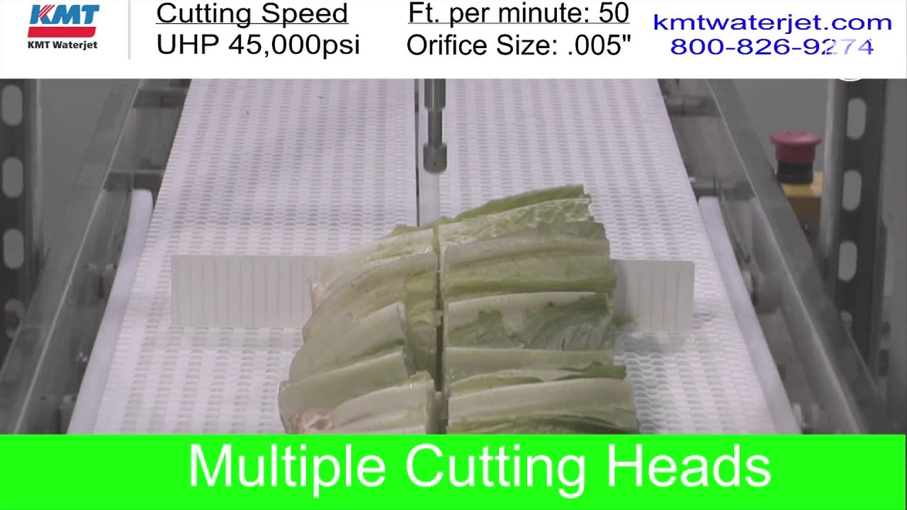 Waterjet cutting shows promise for produce items - Vegetable