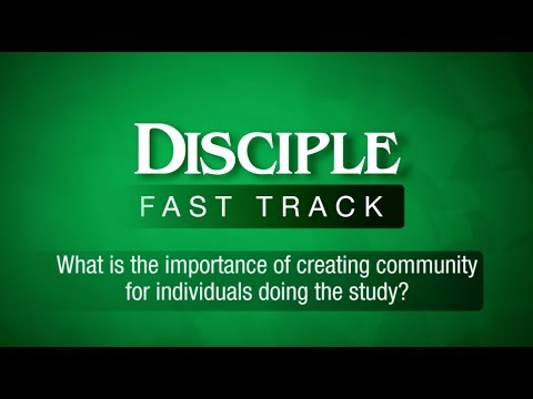 What is the importance of creating a community for the individuals doing the study?