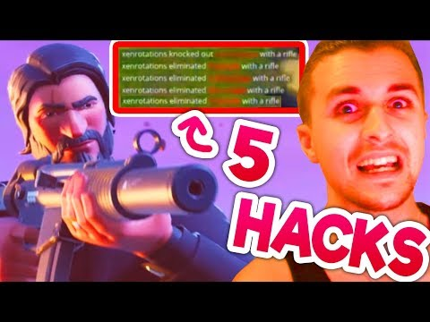 5 Jugadores DE UN TIRO? Hacks de Fortnite Battle Royale Hackers