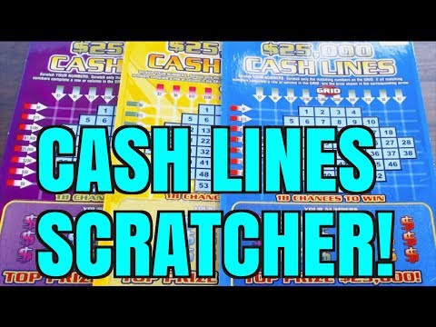 $25,000 CASH LINES $3 Minnesota Lottery Scratchers