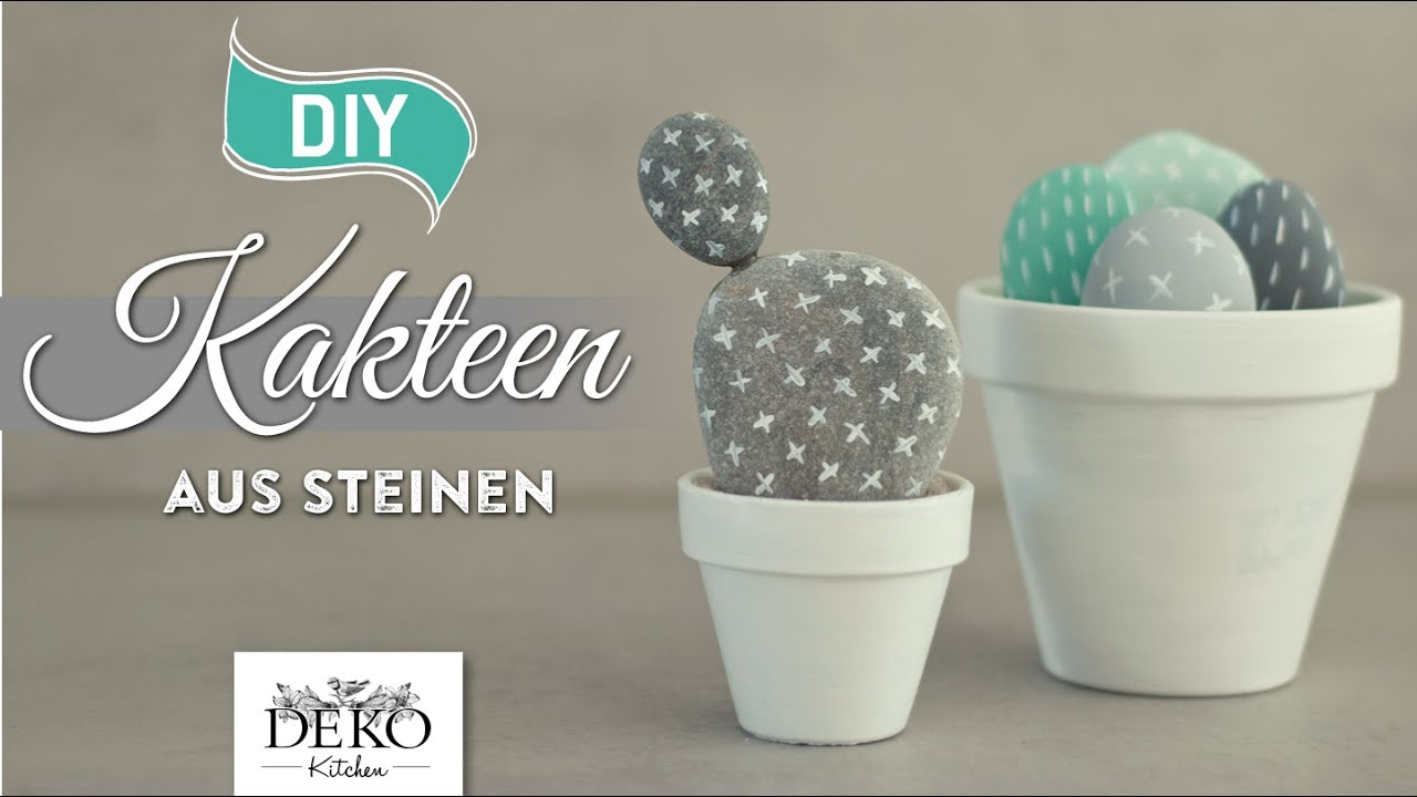 diy s e kakteen aus steinen selber machen how to deko kitchen youtube. Black Bedroom Furniture Sets. Home Design Ideas