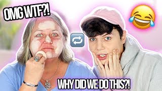 SWITCHING MAKEUP ROUTINES WITH MY MOM?! OMG!!  | Thomas Halbert