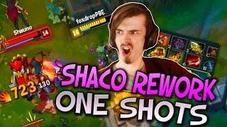 FULL AD SHACO REWORK INSANE ONE SHOTS - League of Legends