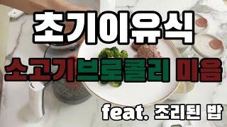 베이비 브레짜 이유식 마스터기 - 소고기브로콜리 미음 …