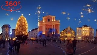 360 VR VIDEO TRAVEL - Christmas in Ljubljana, Slovenia (vr 360 video for oculus rift, gear vr). / Видео