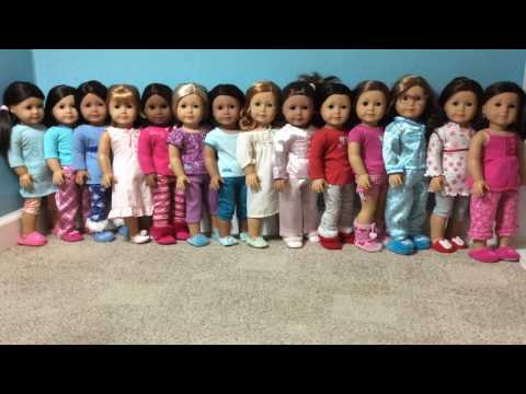 Dressing My American Girl Dolls Into Pajamas