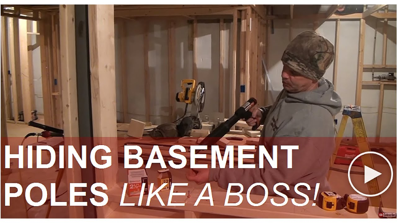 Hiding Basement Support Poles Youtube