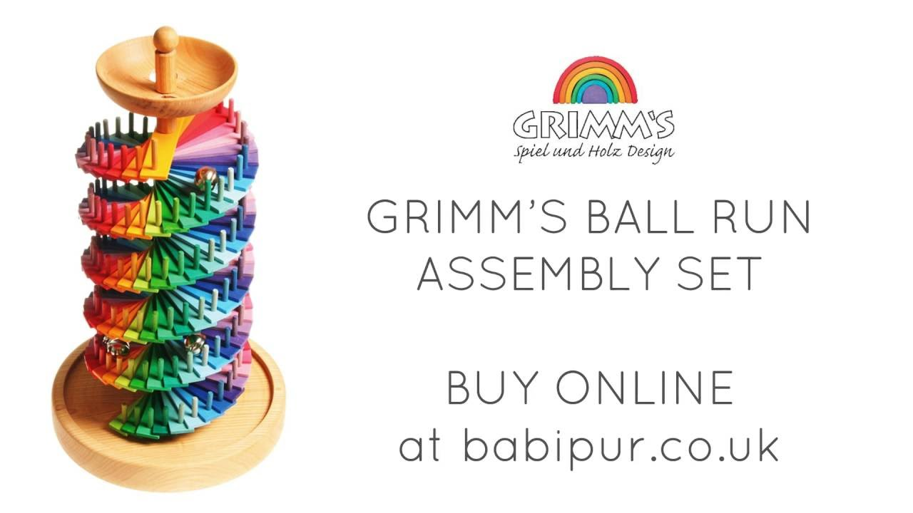 Grimms Handcrafted Wooden Rainbow Bell Tower