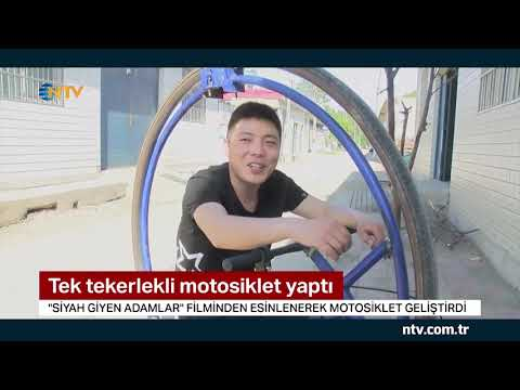 Tek tekerlekli motosiklet yaptı