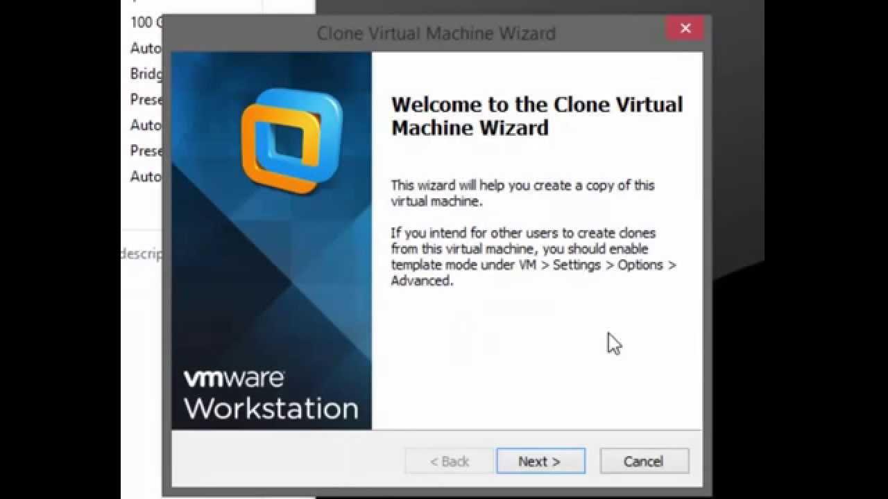 how to create a vmware virtual machine