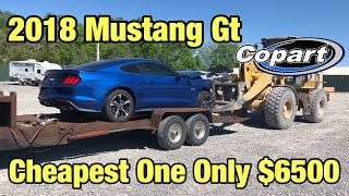 Rebuilding a Wrecked 2018 Ford Mustang GT From Copart Salvage Auction For Only $6500