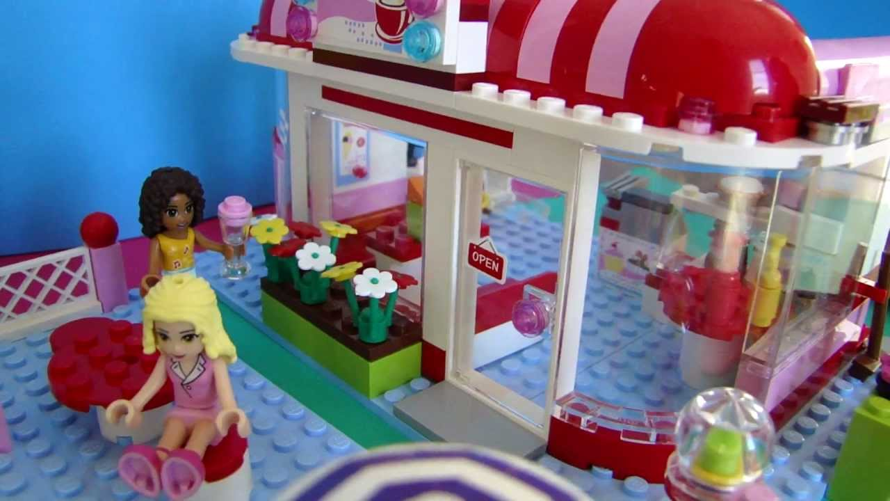 Lego Friends Le Café 3061 Youtube