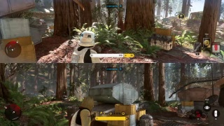 Star Wars Battlefront 1 skirmish with a special guest