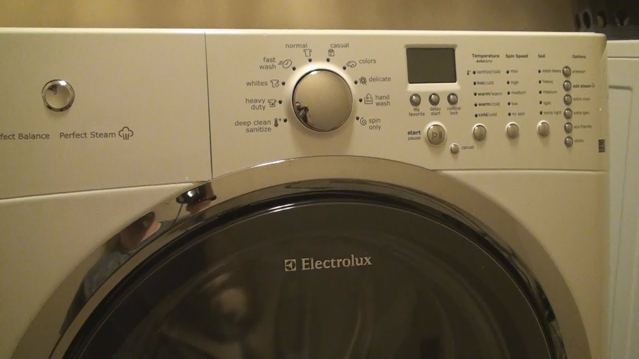 how to clean an electrolux front loading washing machine youtube rh youtube com