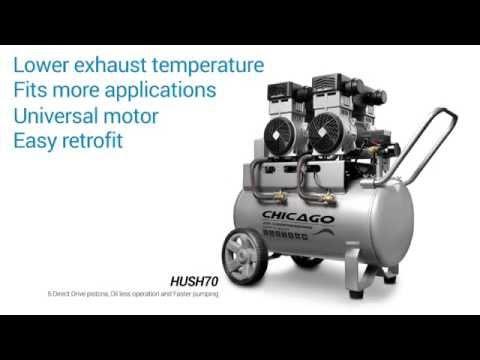 Sydney Tools - Chicago Air HUSH Series Silenced Aluminium Air Compressors