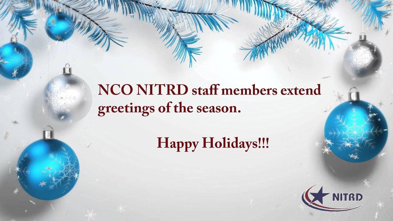 Seasons Greetings From Nco Nitrd Youtube