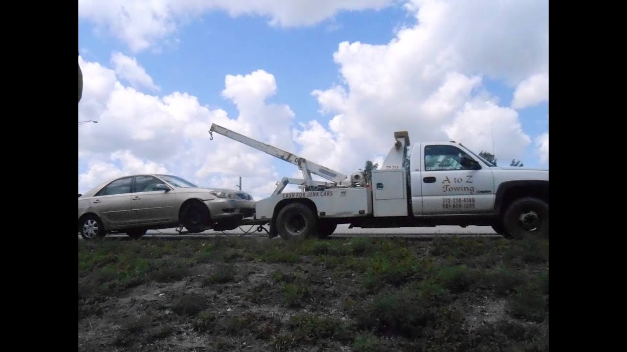 A to Z Towing West Palm Beach 561-656-1888 - YouTube