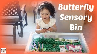 Butterfly Sensory Bin for Toddlers and Preschoolers