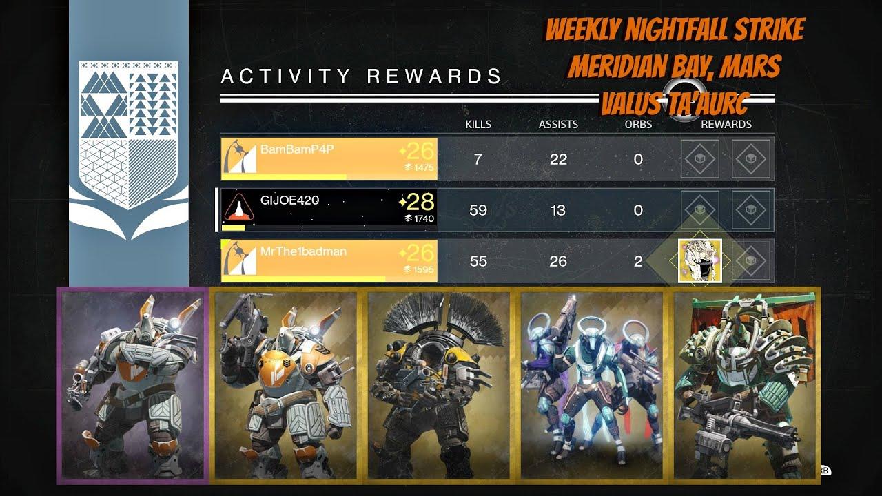 matchmaking weekly nightfall strike