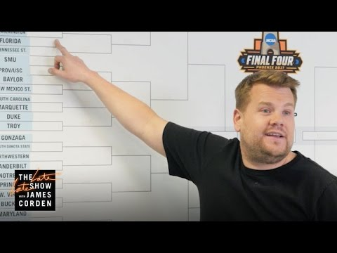 James Corden's First NCAA Bracket