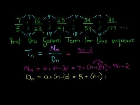 Arithmetic Sequence Example  Youtube