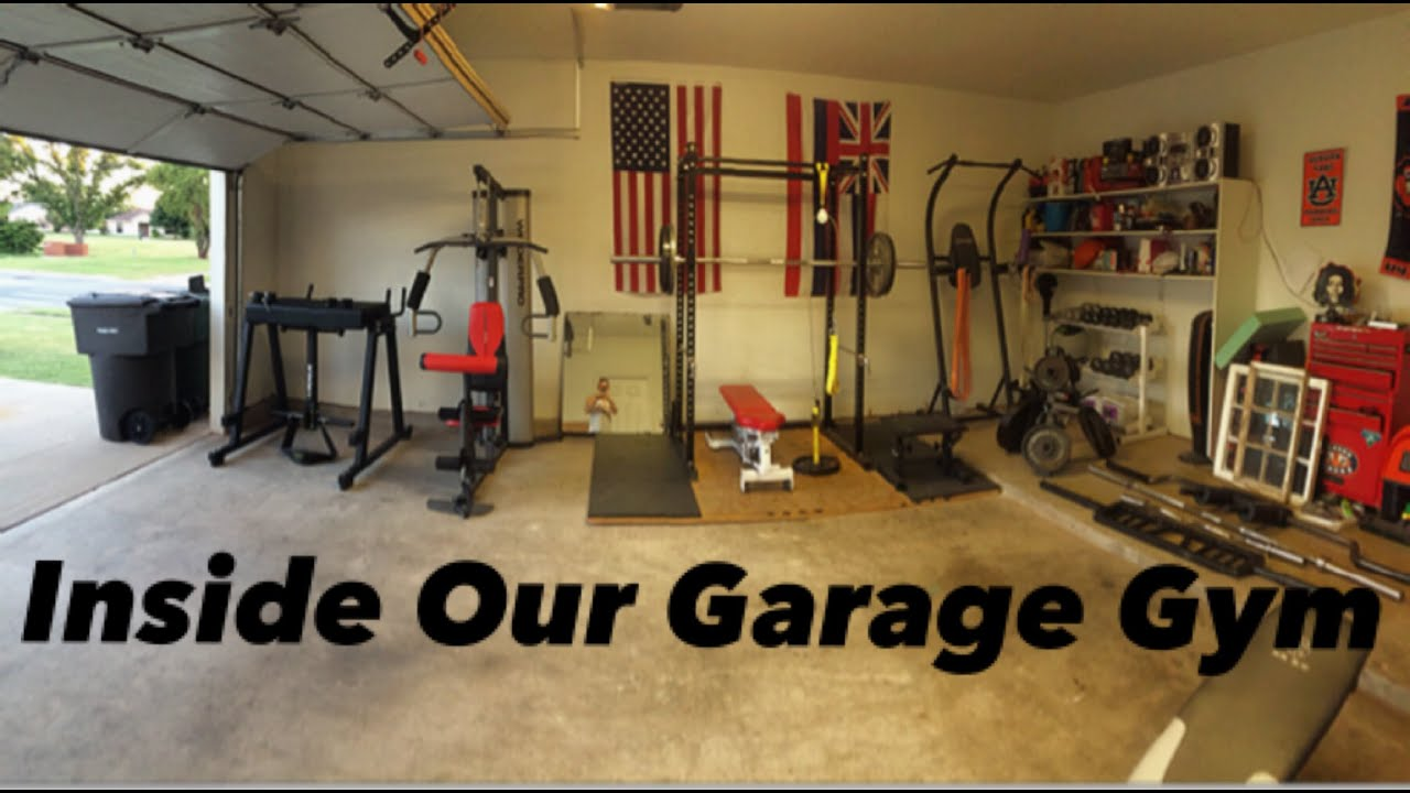 A look inside of our garage gym youtube