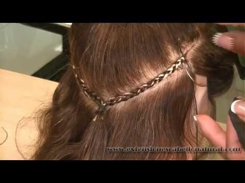 Como se cosen las extensiones la manera correcta para no da ar el pelo comprobado youtube - Extensiones cortina ...