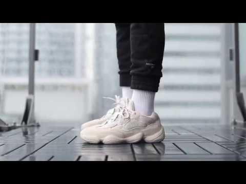 ec4b70fd035c2 Adidas Yeezy 500 Desert Rat On Feet