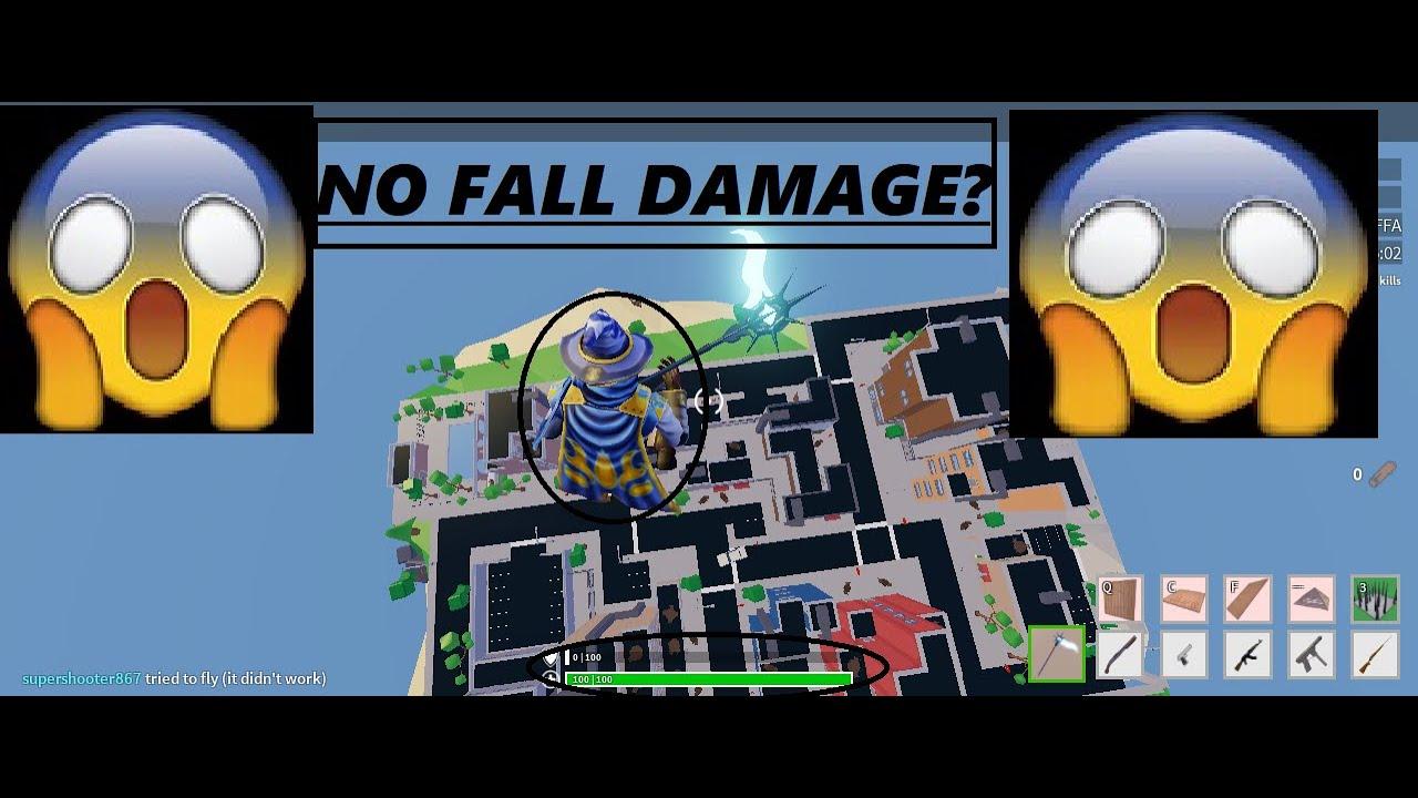 No fall damage glitch(Roblox Strucid) - YouTube