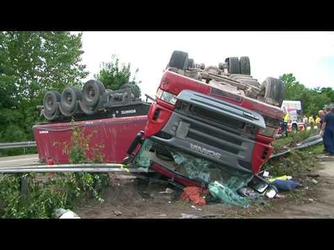 LKW Unfall A 61